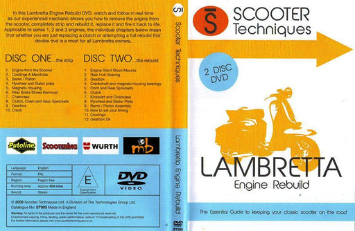 DVD - Lambretta Engine Rebuild - By Scooter Techniques - 2 Disc