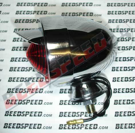 Lamp - Marker Light - Red Lens - Includes Peak - Chrome