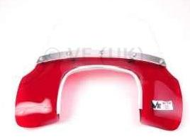 Lambretta - Flyscreen - MOD Style - GP - Transparent Red