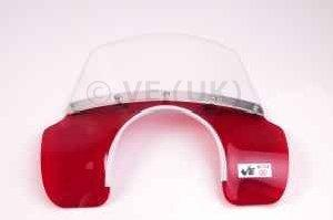 Vespa - Fly Screen - MOD Style - PX/PE/T5/LML - Transparent Red