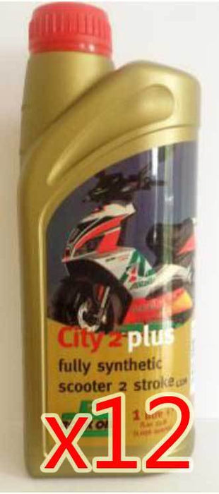 Oil - Rock Oil - 2Stroke City2Plus Fully Synthetic - 1 Litre - Box/12 Pack