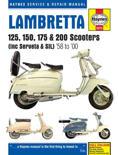 Manual - Haynes Lambretta 125/150/175 & 200cc Scooters