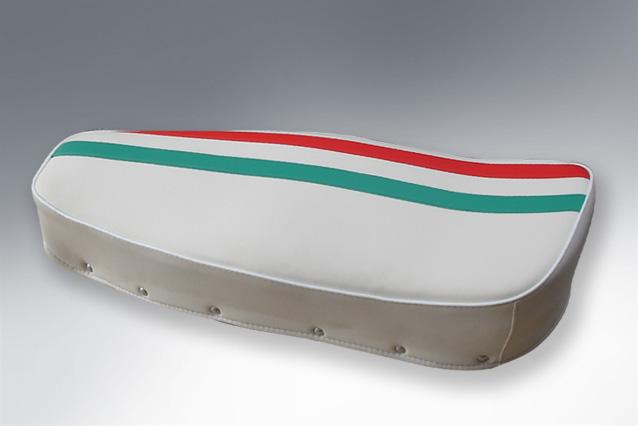 Lambretta - Seat Dual - Italian Stripes - Made To Order