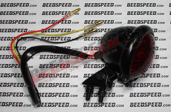 Lamp - Rear Light - LED - Marker Lamp Size - Black - Red Lens