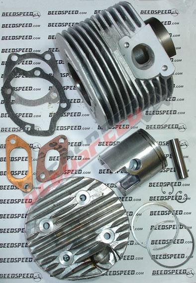 Lambretta - Barrel / Piston And Head 190cc Kit - Alloy - New With Polished Ports