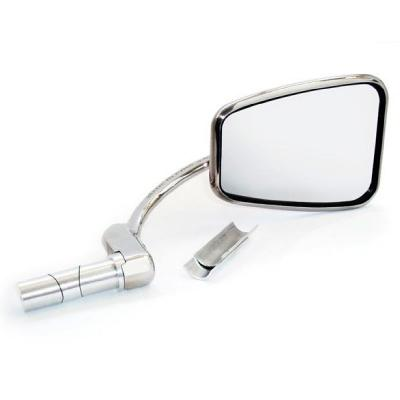 Mirror - Handle Bar Folding Type - Stadium Shape - Left Or Right - Polished S/S