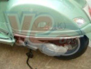 Automatic - Crash Bar - Rear - Faco - Vespa GT 125/200 - Chrome Plus