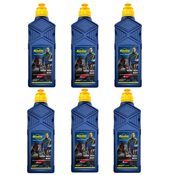 Oil - Putoline - MX9 Ester Tech Fully Synthetic Two Stroke - Injet/Pre Mix - 1 Litre - 6 Pack