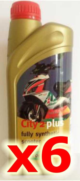 Oil - Rock Oil - 2Stroke City2Plus Fully Synthetic - 1 Litre - 6 Pack