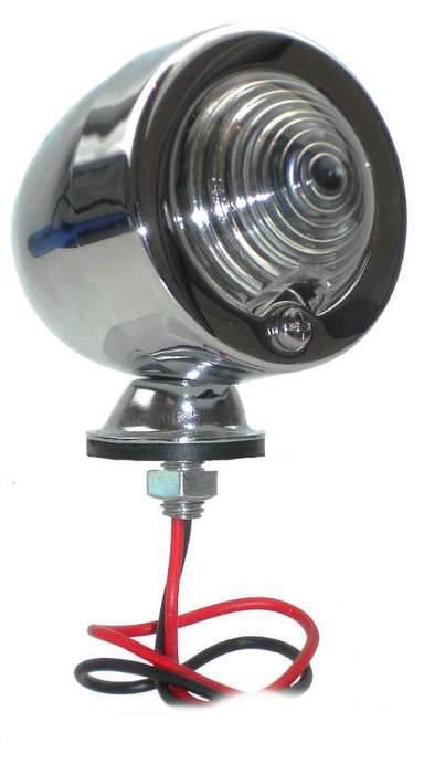 Lamp - Marker Light - Clear Lens - Chrome