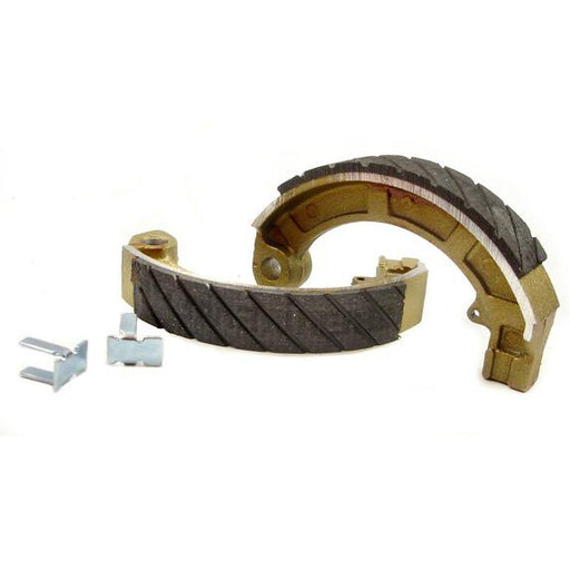 Vespa 125 150 Super P150S 8 inch Rear Brake Shoes - Newfren FTR Grooved