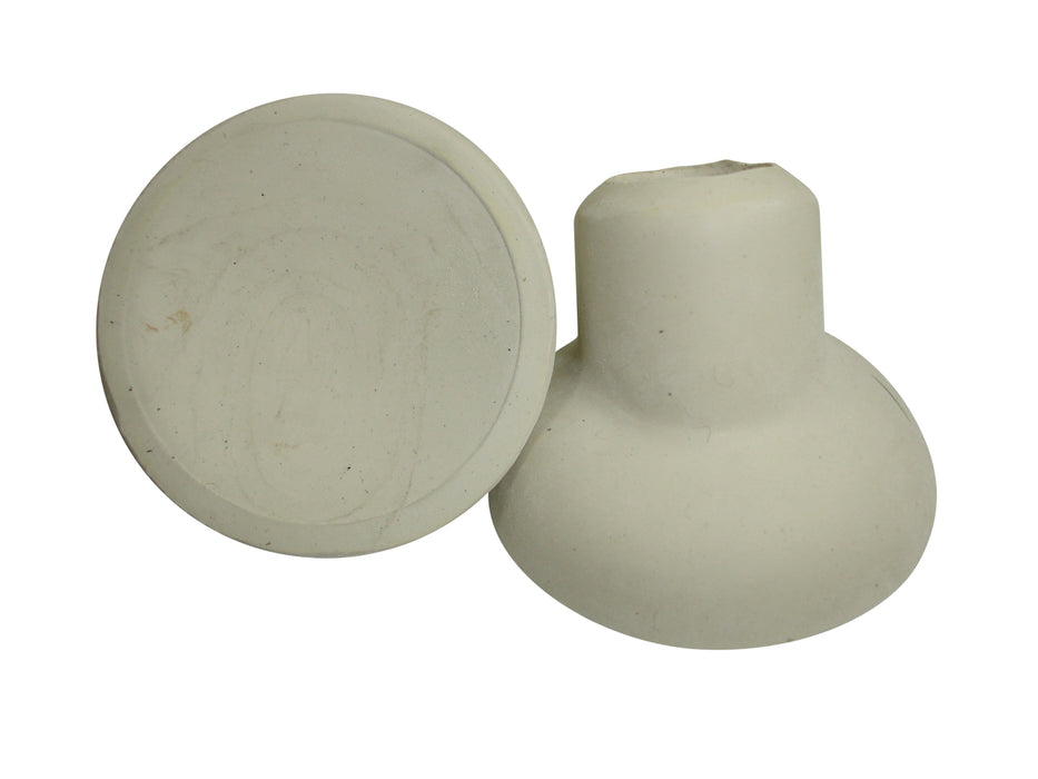 Front Carrier Replacement Rubber Cup/Buffer - 19mm - Pair - White