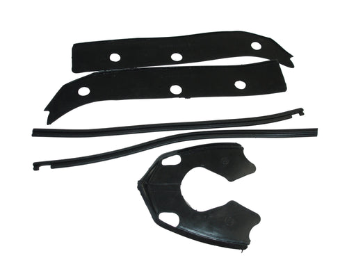 Lambretta GP Horncover And Front Mudguard Rubber Kit - Black