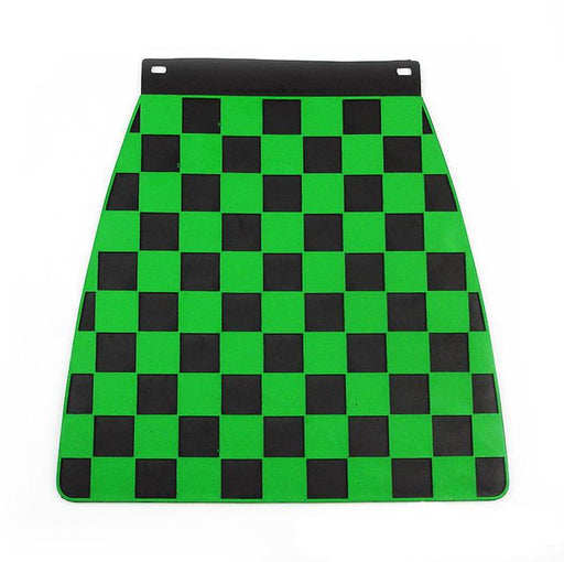 Universal Pressed Chequered Type Mudflap Green & Black