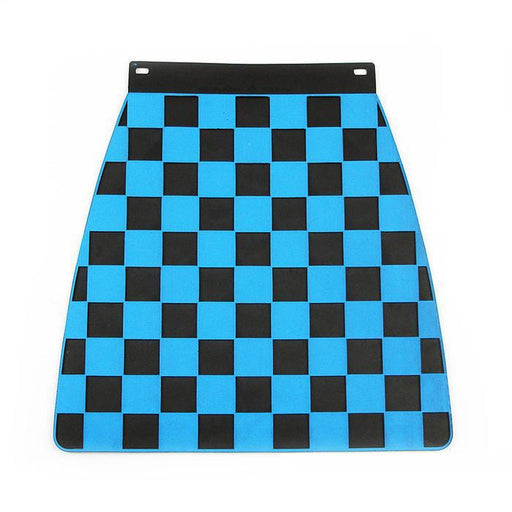 Universal Pressed Chequered Type Mudflap Blue & Black
