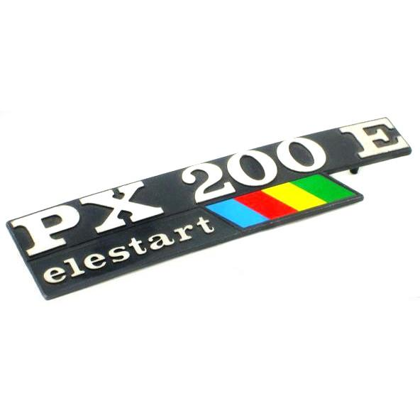 Vespa Side Panel Badge PX200E Electric Start With Flash