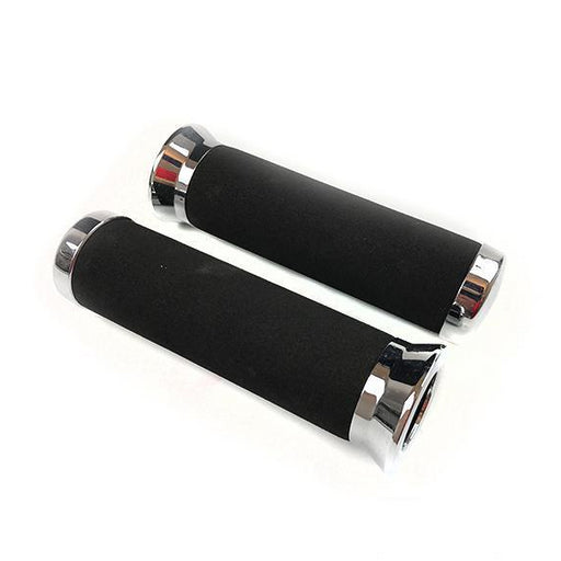 "Twist Grips - Chrome Foam Grips - 1"" (25mm) - Vespa/Lambretta"