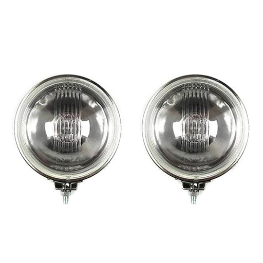 Vespa Lambretta Scooter Spot Light Lamp 11cm - Flat Back - Stainless Steel - Pair