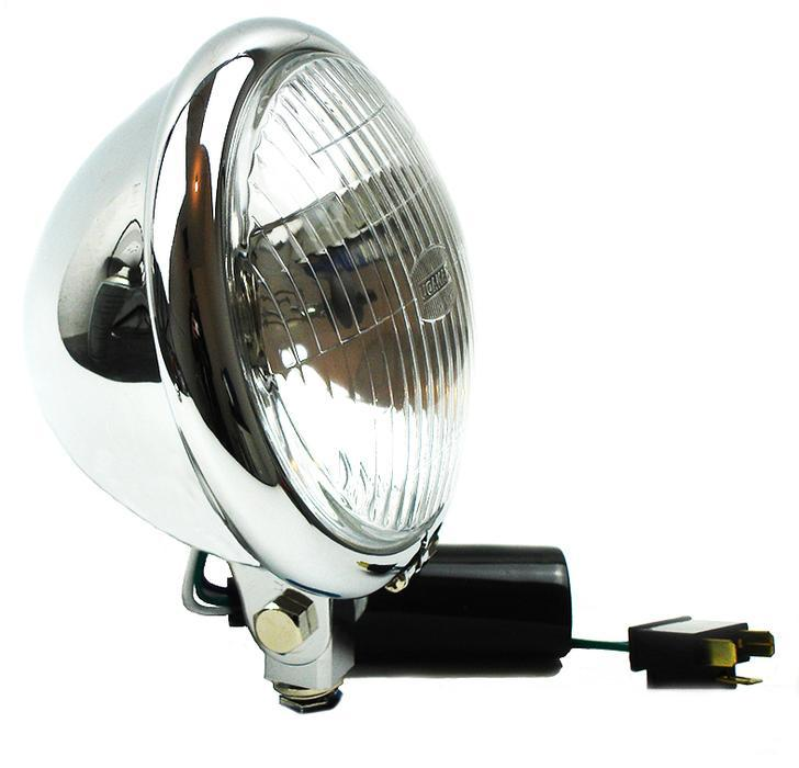 Lamp - Headlight 15.5cm Bates Chrome