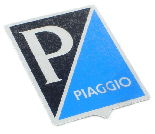 Badge - Horncover - Piaggio Shield - Black/Blue/Silver