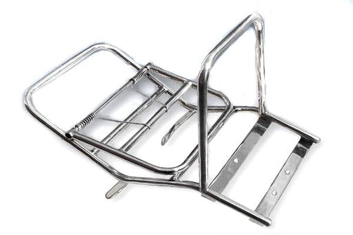 Carrier - Madrid Style Rear - Polished Stainless Steel - Vespa PX