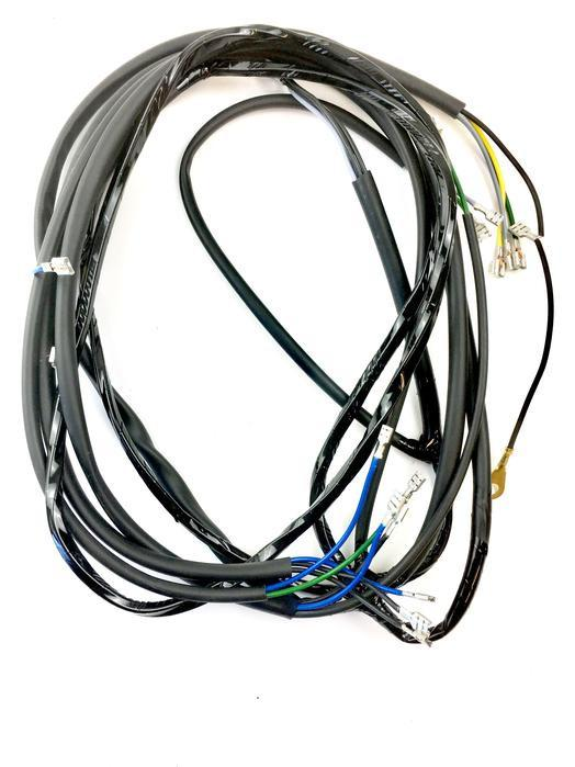 Vespa P200E 12V Points Type Wiring Harness Loom - Standard UK British With Indicators