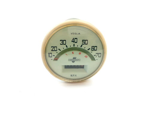 Lambretta Series 1 2 Li TV 70mph Speedometer Light Green - Italian Cable Fitment