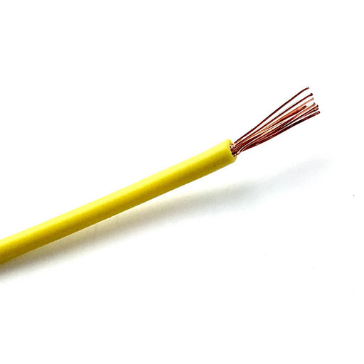 Automotive Wiring/Wire Cable - Yellow - Per Meter