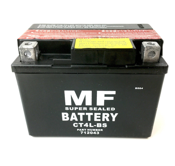 Battery - 12 V - YTX4-LBS / CTX4-LBS - Easy Fill Acid Pack - Beedspeed, Scooter Parts & Accessories For Lambretta, Vespa & More