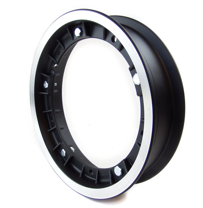 Wheel Rim Alloy Vespa Black With Polished Edge PX, V50, Prim, Etc.