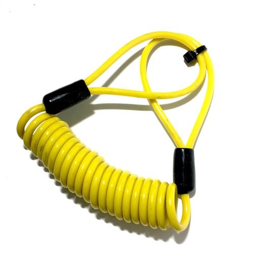 Lock - Disc Lock Reminder Cable - Yellow