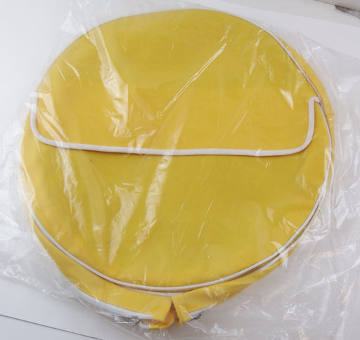 "Wheel - Spare Wheel Cover 10"" - Zipped - Yellow White Piping"