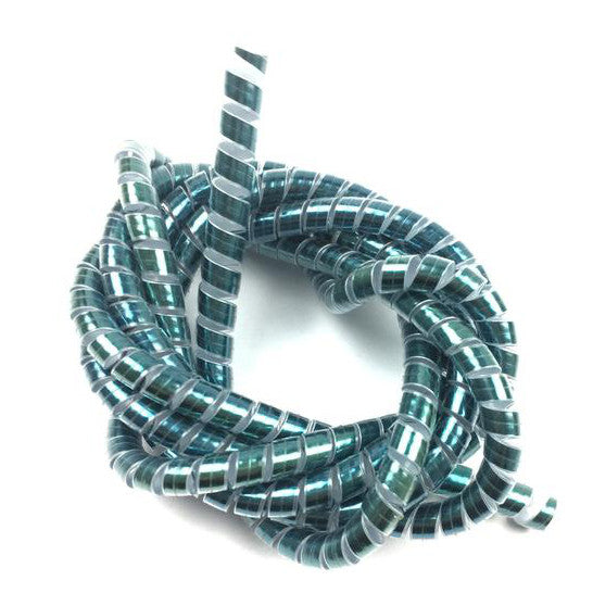 Cable Warp Cover - Metalic Blue - 1.5mx6.2mm