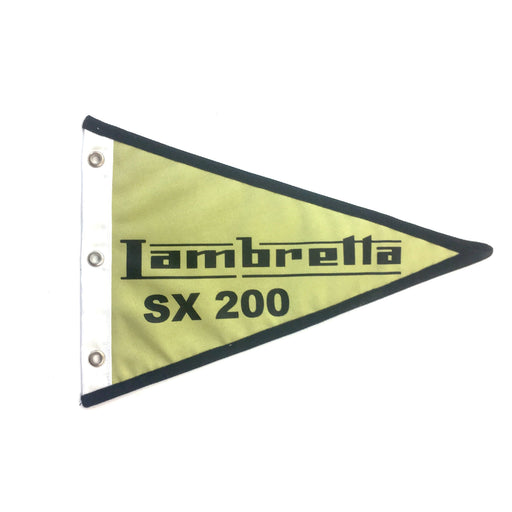 Flag Lambretta SX200 29cm x 18cm Green & Black