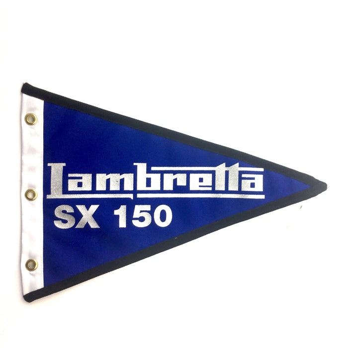 Flag Lambretta TV175 29cm x 18cm Blue & Silver