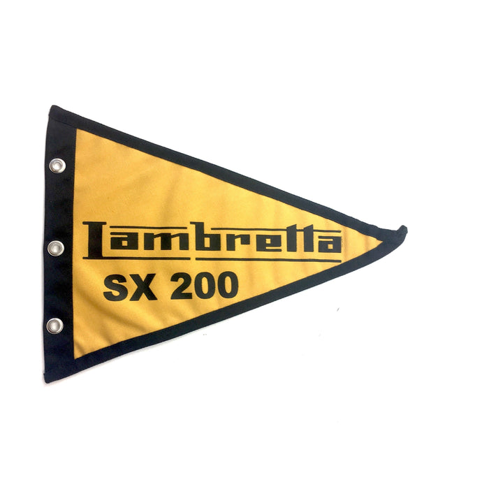 Lambretta Flag SX200 29cm x 18cm Mustard Yellow & Black