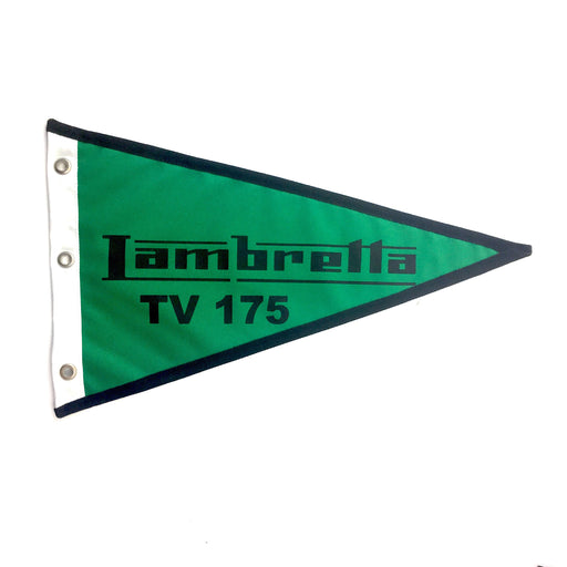 Flag Lambretta TV175 29cm x 18cm Green