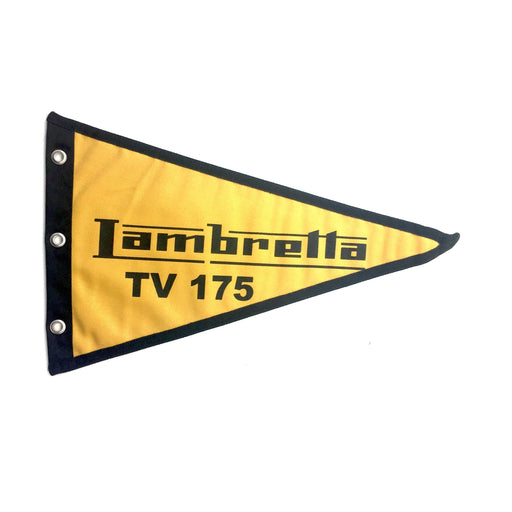Flag Lambretta TV175 29cm x 18cm Mustard Yellow