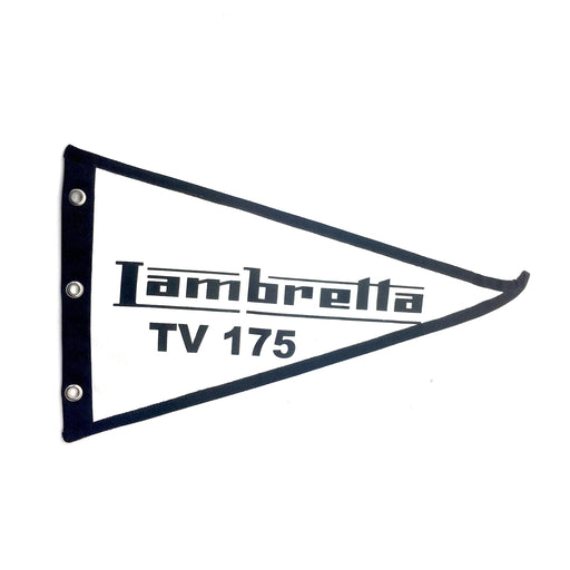 Flag Lambretta TV175 29cm x 18cm White
