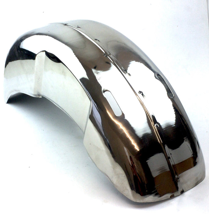Lambretta Series 2 Li TV Rear Mudguard - Polished Stainless Steel