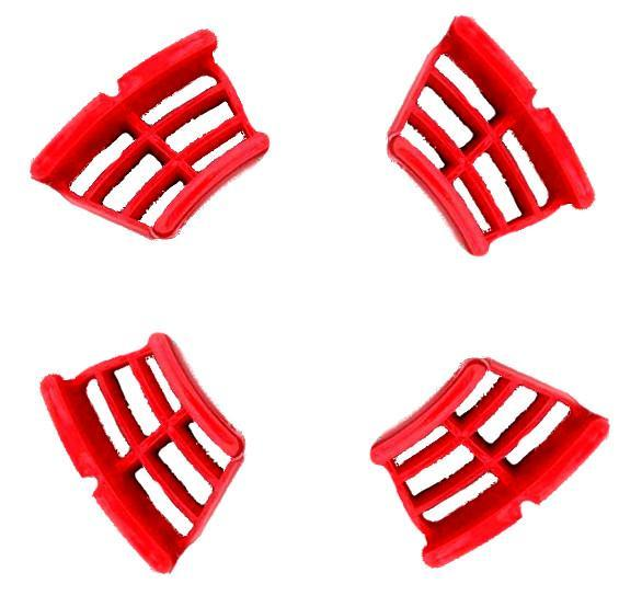 Lambretta - Disc Hub Window Cover Set - Red Plastic