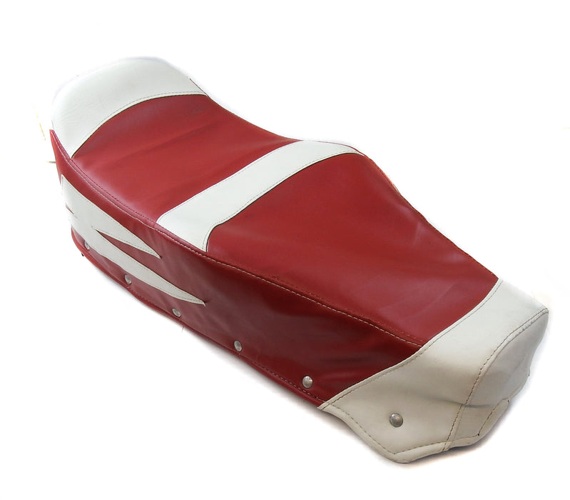 Vespa - Seat Cover Covolo - Dark Red And White