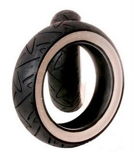 Tyre - Continental Twist - 120/70 x 12 - Whitewall
