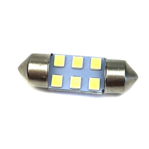 12V LED Festoon Bulb  30mm x 11mm White