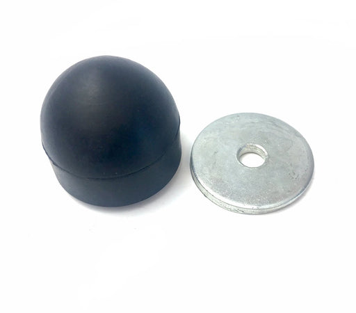 Lambretta Engine Case Rubber Bump Stop and Metal Plate Kit