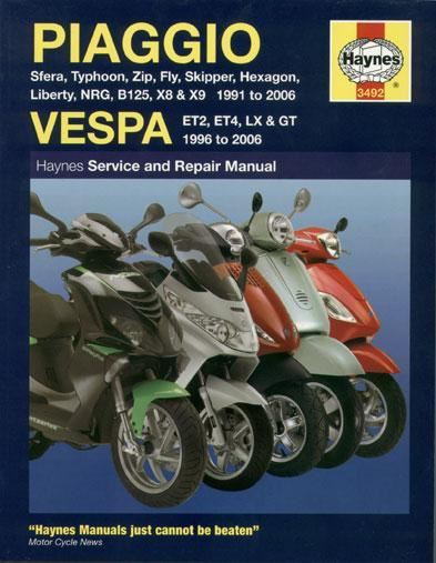 Manual - Haynes Piaggio / Vespa Automatic Scooters 1991 to 2006
