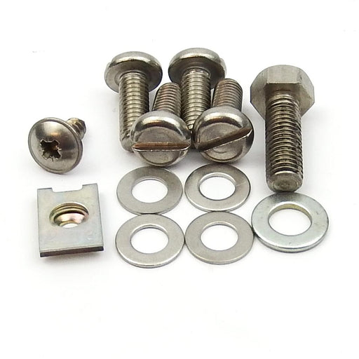 Vespa Fixing Kit Head & Fly Cowling Stainless Steel PX125, 150, Super