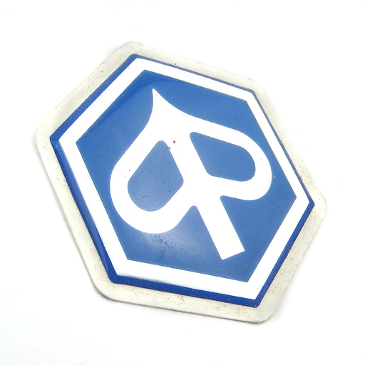 Badge - Horncover Badge Hexagon Shaped - Smooth Resin 32mm - Sti