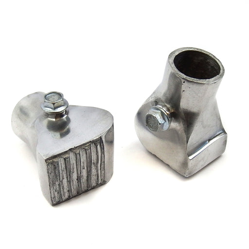 Vespa PK/PX/T5 Square Metal Centre Stand Feet 22mm Polished