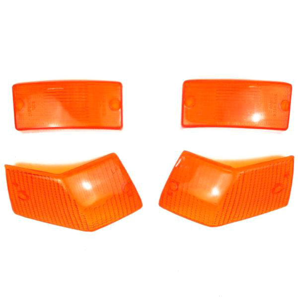 Vespa - Lamp - Indicator Lenses Set - Amber - PX/PE/T5